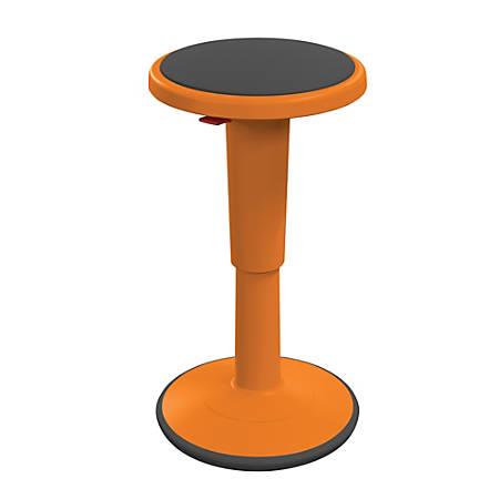 "Hierarchy Height-Adjustable Grow Stool, 18""H, Orange"