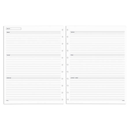 """TUL® Custom Note-Taking System Discbound Weekly/Monthly Refill Pages, For Letter-Size Notebook, 8-1/2"""" x 11"""", January to December 2020"""