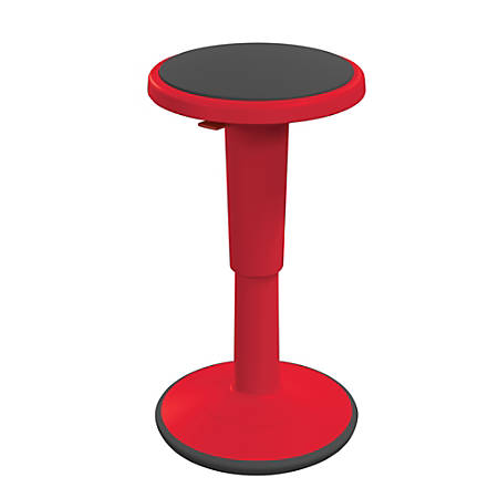 """Hierarchy Height-Adjustable Grow Stool, 18""""H, Red"""