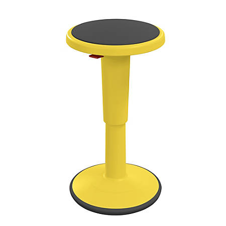 "Hierarchy Height-Adjustable Grow Stool, 18""H, Yellow"