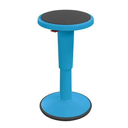 """Hierarchy Height-Adjustable Grow Stool, 24""""H, Blue"""