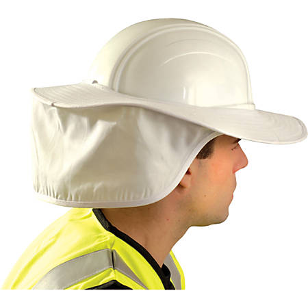 Hard Hat Shades, White, For Most Regular Hard Hats (Not Full Brim)