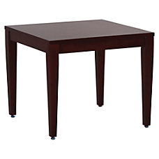 Lorell Solid Wood Corner Table Mahogany