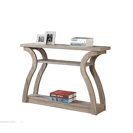 Monarch Specialties Console Table, Curved, 3 Tier, Dark Taupe
