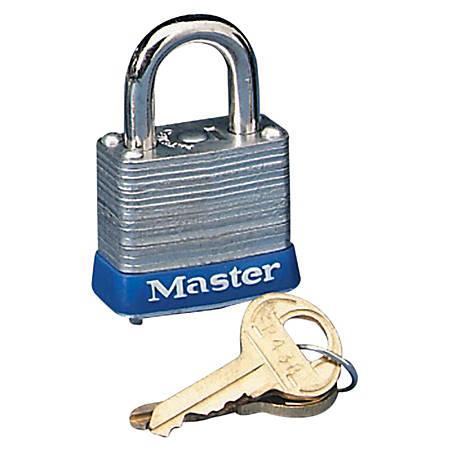 Master Lock® Laminated Padlock, Steel, Silver