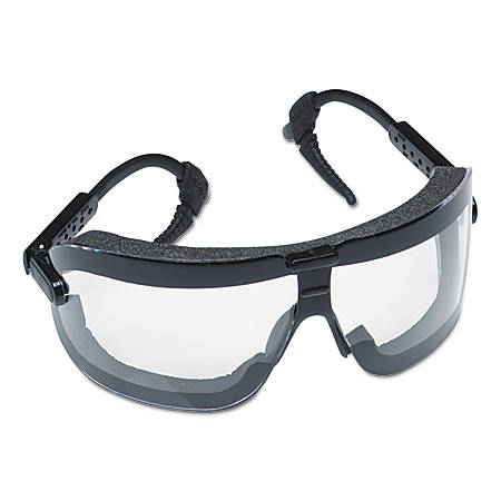 Fectoggles Impact Goggles, Large, Clear/Black, Adjustable Temples