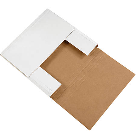 "Office Depot® Brand Easy Fold Mailers, 14"" x 14"" x 4"", White, Pack Of 50"