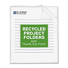 C Line Recycled Project Folders Letter