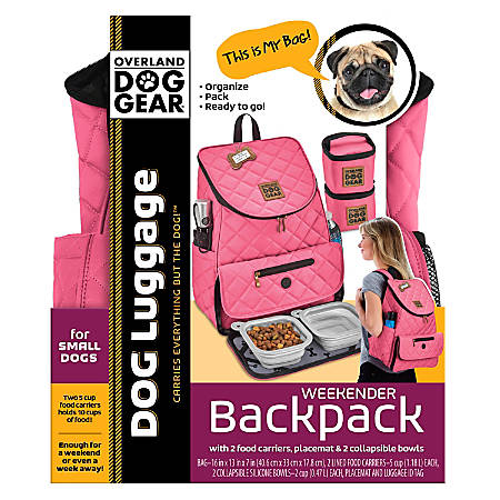 Overland Dog Gear Weekender Backpack, Pink