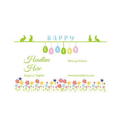 Plastic Sign Horizontal Happy Easter