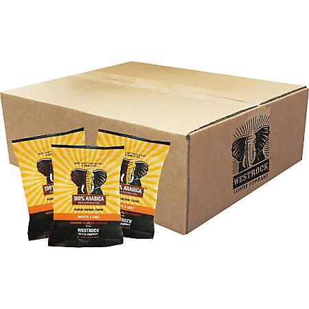 Westrock Coffee 100 Percent Arabica Decaffinated Ground Coffee - Decaffeinated - Arabica - Medium/Dark - 2 oz - 18 / Carton