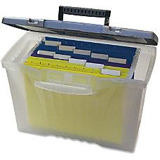 Storex Plastic Portable File Box 12