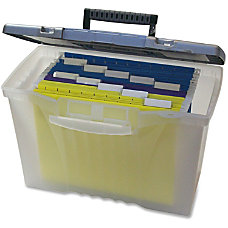 Storex Plastic Portable File Box 12