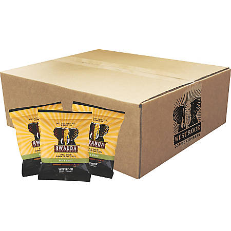 Westrock Coffee Rwanda Select Reserve Ground Coffee - Regular - Dark - 2 oz - 18 / Carton
