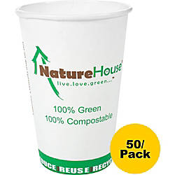 NatureHouse Compostable PaperPLA Party Cups 16