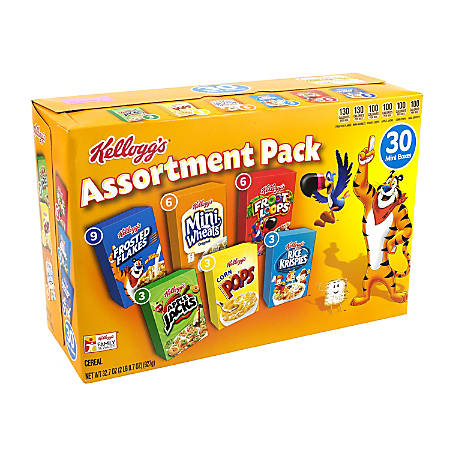 Kellogg's Assorted Cereal, Box Of 30