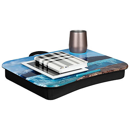 "LapGear Lap Desk With Cup Holder, 14.8""H x 18.5""W x 2.8""D, Patagonia"