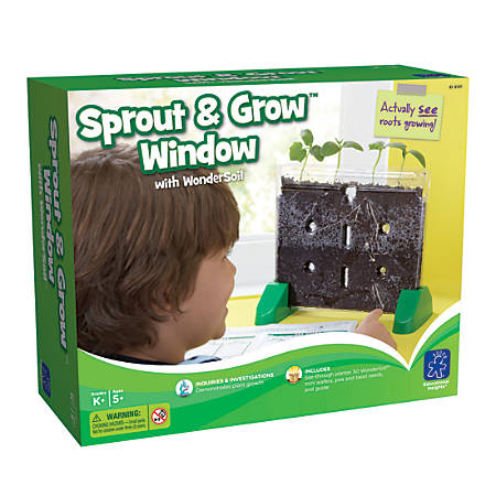 "Educational Insights® Sprout & Grow Window Kit, 4 5/8""H x 8 15/16""W x 10 11/16""D, Grades K-6"
