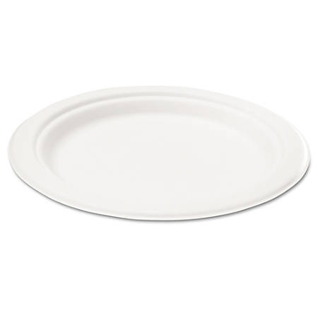 """NatureHouse® Bagasse Plates, 6"""" Round, Pack Of 50"""