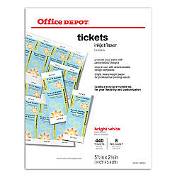 Office Depot Brand InkjetLaser Tickets 5