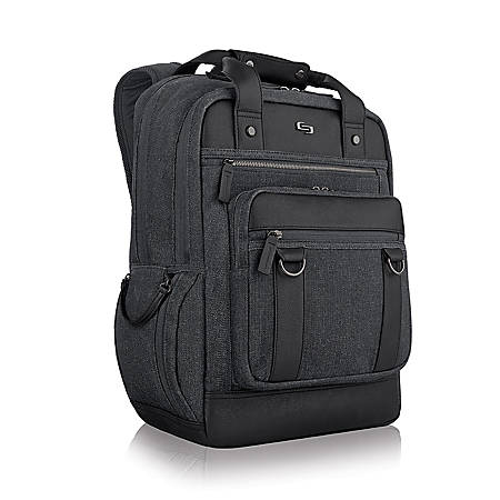 "Solo Bradford Executive Collection Backpack For 15.6"" Laptops, Black/Gray"