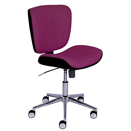 Serta® Style Collection Haylie Fabric Mid-Back Office Chair, Fuchsia/Charcoal/Chrome