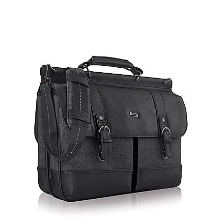 Solo Thompson 156 Laptop Briefcase Black