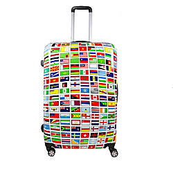 ful Flags ABS Upright Rolling Suitcase