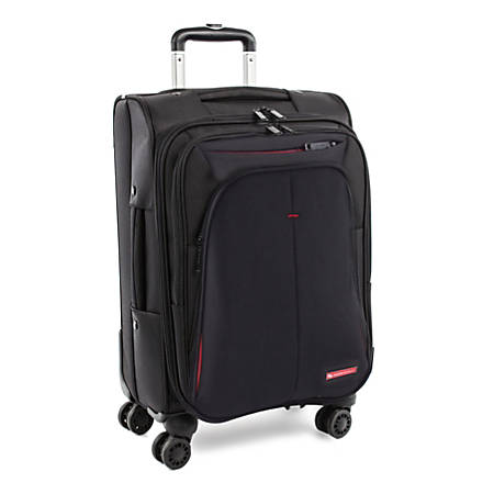 """Swiss Mobility Purpose Upright Rolling Business Carry On, 23""""H x 11""""W x 14-1/2""""D, Black"""
