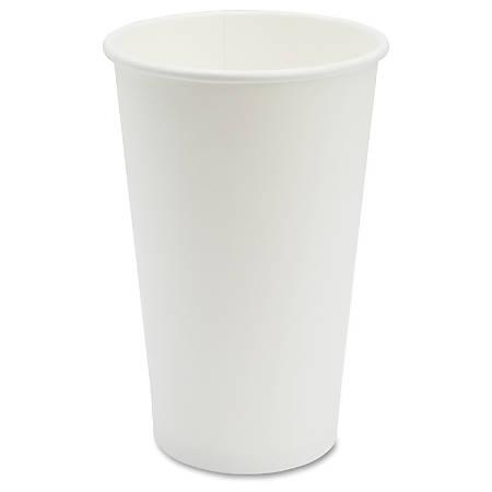Genuine Joe Disposable Hot Cup - 50 - 16 fl oz - 1000 / Carton - White - Coffee, Hot Drink