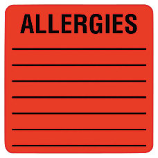 Tabbies Allergy Labels TAB40560 2 x