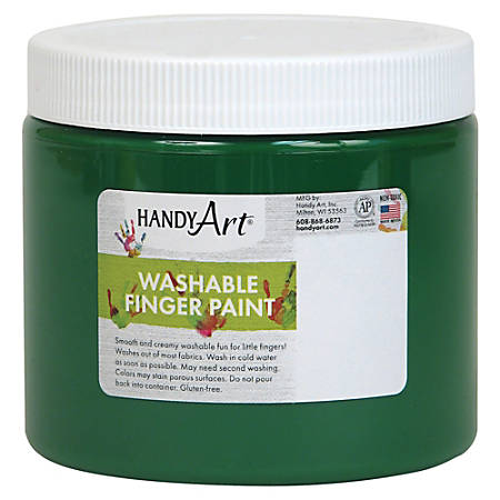 Handy Art Washable Finger Paint - 16 oz - 1 Each - Green
