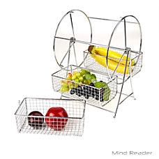 Mind Reader Revolving Triple Fruit Basket