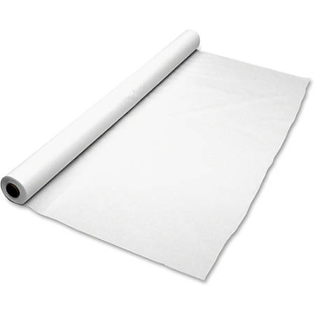 """Tablemate Plastic Banquet Table Cover, 40"""" x 300', White"""
