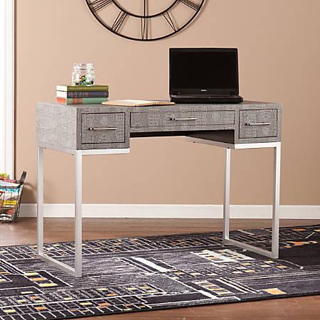 Southern Enterprises Carabelle Reptile Desk, Black/Gray/Silver