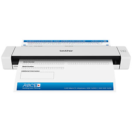 Brother Mobile Color Page Scanner Ds 620 Office Depot