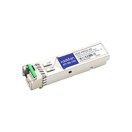 AddOn Ciena XCVR-A40U31 Compatible TAA Compliant 100Base-BX SFP Transceiver (SMF, 1310nmTx/1490nmRx, 40km, LC, DOM) - 100% compatible and guaranteed to work