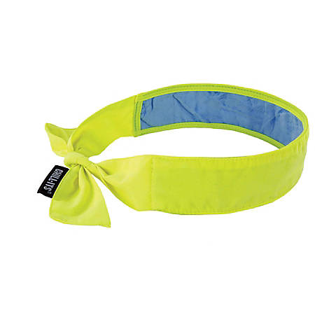 Ergodyne Chill-Its 6700CT Evaporative Cooling Tie Bandanas With Cooling Towel, Lime, Pack Of 6 Bandanas
