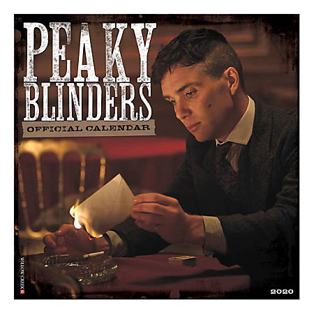 """Willow Creek Press Characters Monthly Wall Calendar, 12"""" x 12"""", Peaky Blinders, January To December 2020"""
