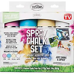 Testors 4 Color Washable Spray Chalk