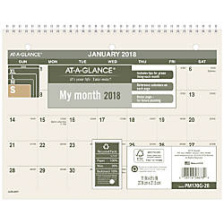 AT A GLANCE Monthly DeskWall Calendar