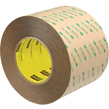 """Scotch® 9472LE Adhesive Transfer Tape Hand Rolls, 3"""" Core, 4"""" x 60 Yd., Clear, Case Of 8"""