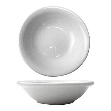 International Tableware Dover Porcelain Fruit Bowls, 4.75 Oz, European White, Pack Of 36 Bowls