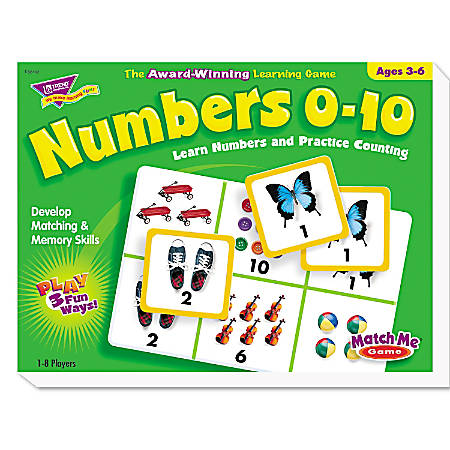 TREND Numbers 0-10 Match Me Puzzle Game, Ages 3 - 6