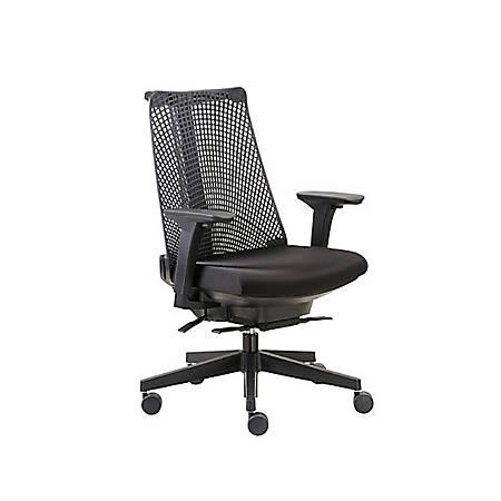 Boss Contemporary Mesh High-Back Chair, Black