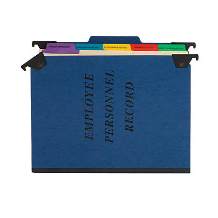"Pendaflex® Hanging-Style Personnel Folder, 9 1/2"" x 11 3/4"", 2"" Expansion, 65% Recycled , Blue"