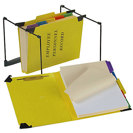 """Pendaflex® Hanging Style Personnel Folder, 9 1/2"""" x 11 3/4"""", 2"""" Expansion, 65% Recycled, Yellow"""