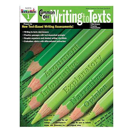 Newmark Learning Common Core Writing To Text Book, Grade 1