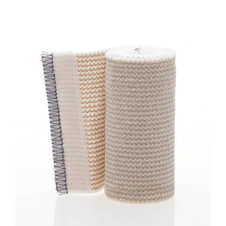 "Medline Non-Sterile Matrix Elastic Bandages, 4"" x 5 Yd., White/Beige, Box Of 10"