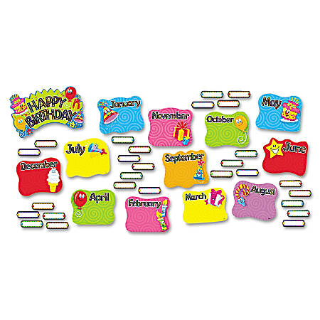 TREND Happy Birthday Mini Bulletin Board Set, Set Of 47